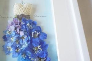 レカンフラワーで飾るクチュールデザインフレーム「chouette-petit- (シュエット)素敵!」