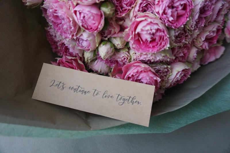 彼女にサプライズ!!彼女の好きな花であなたらしいプロポーズの花束を Le mariage マリアージュ「結婚」